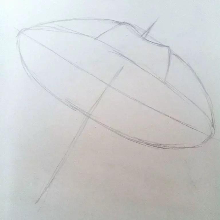 Как нарисовать зонтик карандашом? Шаг 3. Портреты карандашом - Fenlin.ru