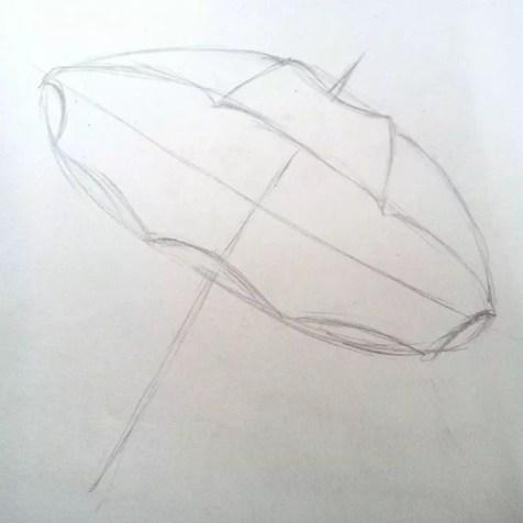 Как нарисовать зонтик карандашом? Шаг 4. Портреты карандашом - Fenlin.ru