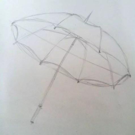 Как нарисовать зонтик карандашом? Шаг 5. Портреты карандашом - Fenlin.ru