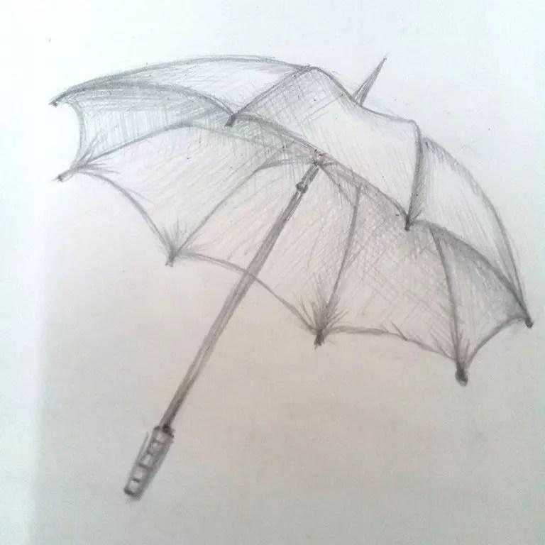 Как нарисовать зонтик карандашом? Шаг 7. Портреты карандашом - Fenlin.ru