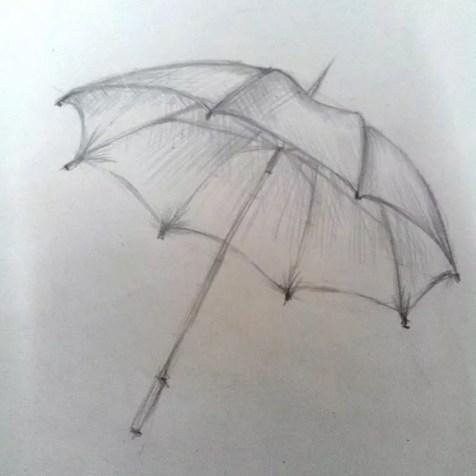 Как нарисовать зонтик карандашом? Шаг 8. Портреты карандашом - Fenlin.ru