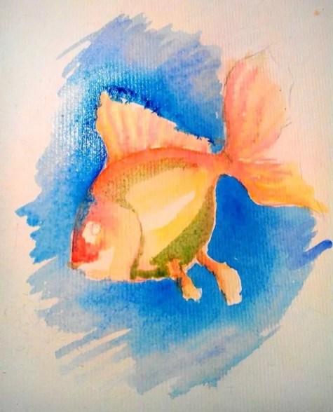 Как нарисовать золотую рыбку? Шаг 7. Портреты карандашом - Fenlin.ru