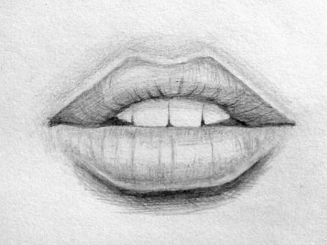 Как нарисовать губы карандашом? Шаг 10. Портреты карандашом - Fenlin.ru