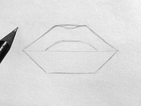 Как нарисовать губы карандашом? Шаг 3. Портреты карандашом - Fenlin.ru