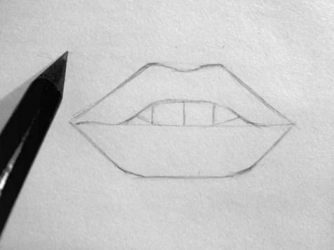 Как нарисовать губы карандашом? Шаг 4. Портреты карандашом - Fenlin.ru