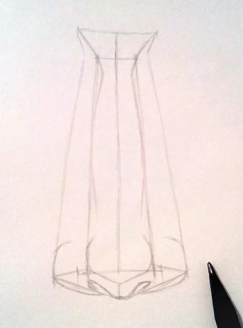 Как нарисовать нос человека карандашом? Шаг 7. Портреты карандашом - Fenlin.ru