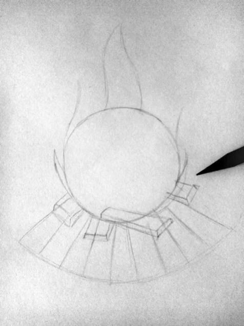 Как нарисовать огонь карандашом? Шаг 3. Портреты карандашом - Fenlin.ru