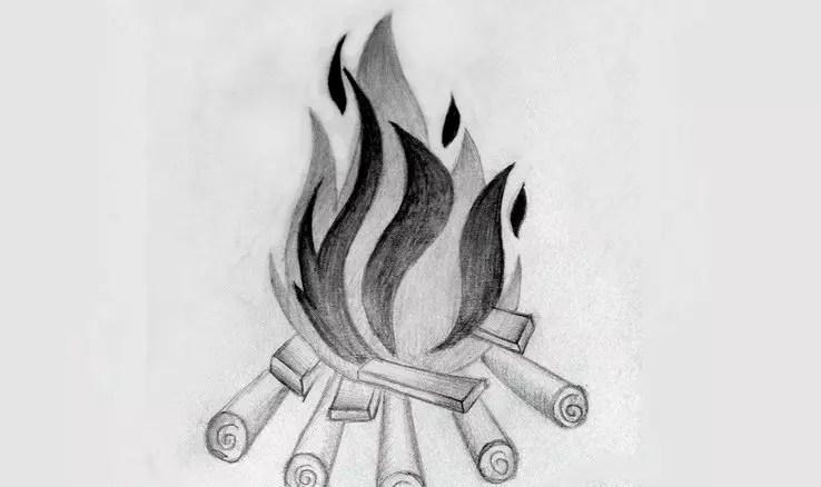 Как нарисовать огонь карандашом? Портреты карандашом - Fenlin.ru