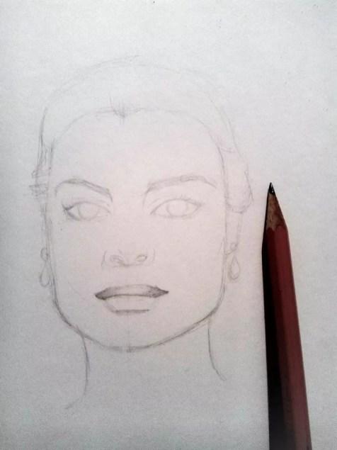 Как нарисовать женский портрет карандашом? Шаг 5. Портреты карандашом - Fenlin.ru
