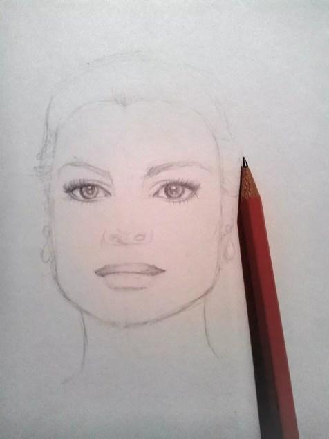 Как нарисовать женский портрет карандашом? Шаг 6. Портреты карандашом - Fenlin.ru