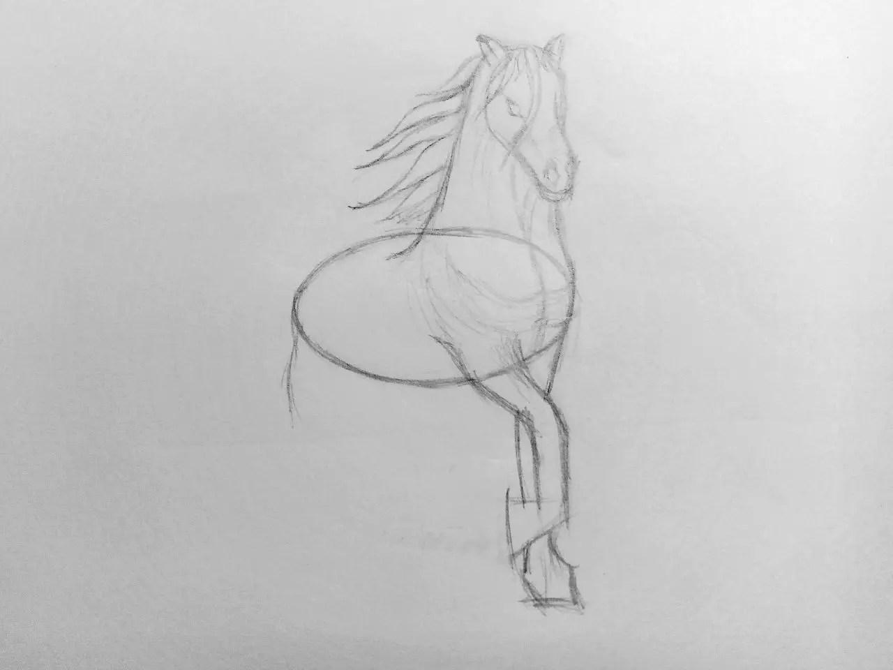 Как нарисовать лошадь карандашом? Поэтапный урок. Шаг 10. Портреты карандашом - Fenlin.ru