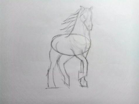 Как нарисовать лошадь карандашом? Поэтапный урок. Шаг 11. Портреты карандашом - Fenlin.ru