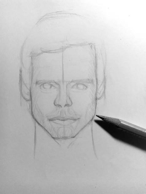 Как нарисовать мужчину карандашом? Шаг 13. Портреты карандашом - Fenlin.ru