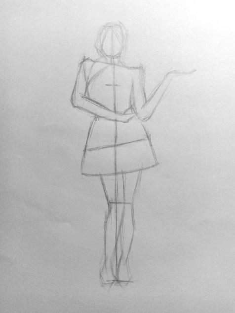 Как нарисовать женщину в полный рост карандашом? Поэтапный урок. Шаг 10. Портреты карандашом - Fenlin.ru