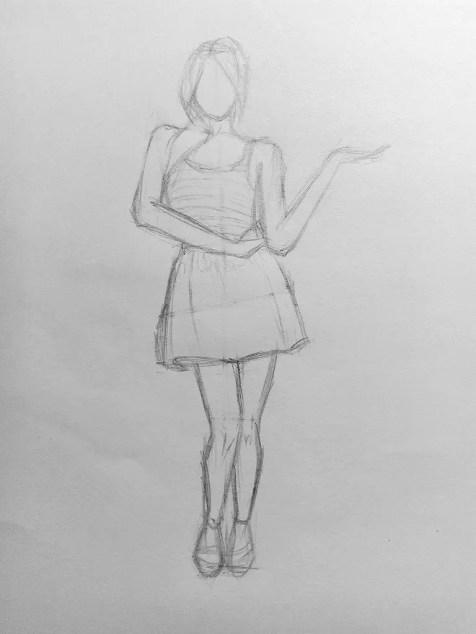 Как нарисовать женщину в полный рост карандашом? Поэтапный урок. Шаг 12. Портреты карандашом - Fenlin.ru