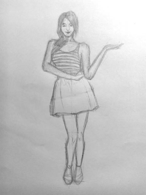 Как нарисовать женщину в полный рост карандашом? Поэтапный урок. Шаг 15. Портреты карандашом - Fenlin.ru