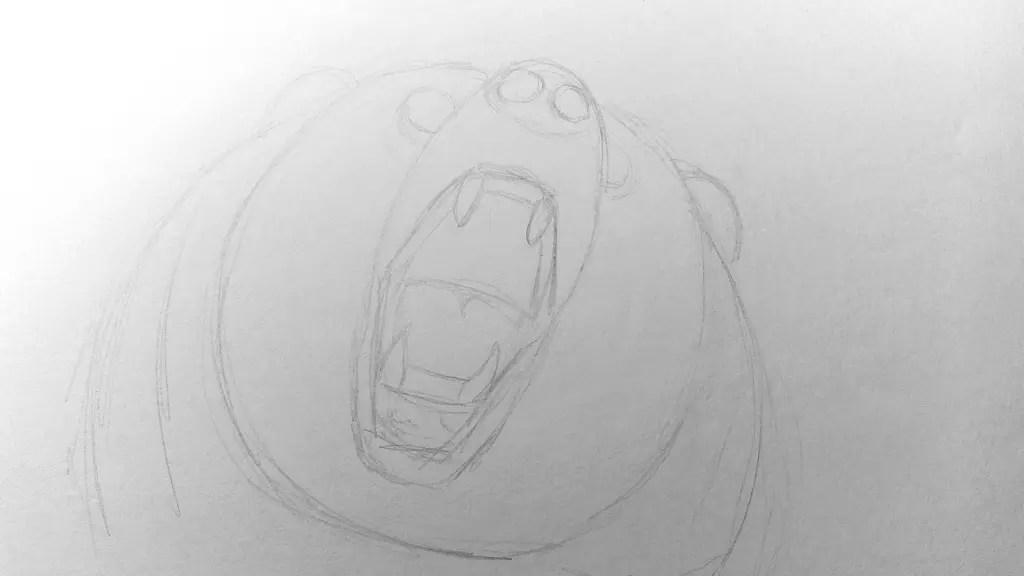 Как нарисовать медведя карандашом? Шаг 6. Портреты карандашом - Fenlin.ru