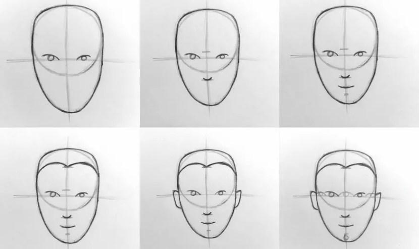 Основы рисования портрета карандашом