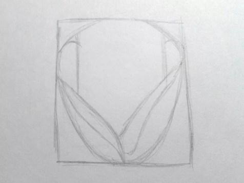 Как нарисовать розу карандашом для детей? Шаг 4. Портреты карандашом - Fenlin.ru