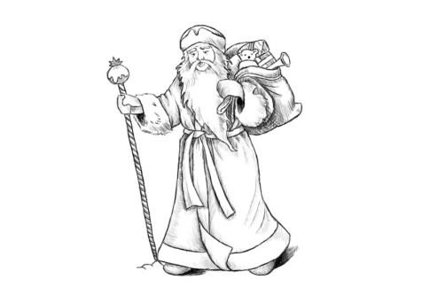 Как нарисовать Деда Мороза? Шаг 17. Портреты карандашом - Fenlin.ru