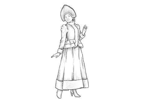 Как нарисовать Снегурочку? Шаг 12. Портреты карандашом - Fenlin.ru