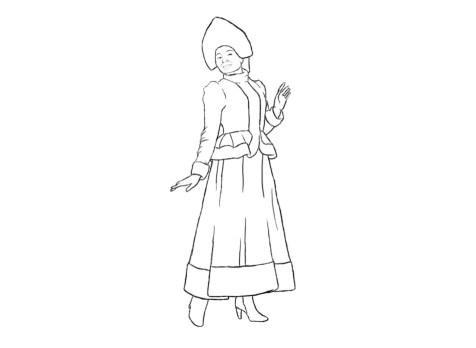 Как нарисовать Снегурочку? Шаг 7. Портреты карандашом - Fenlin.ru