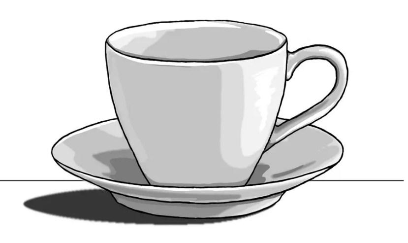 Как нарисовать чашку на графическом планшете? Портреты карандашом - Fenlin.ru