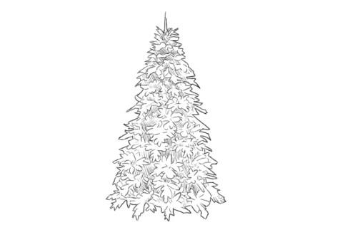 Как нарисовать елку? Шаг 6. Портреты карандашом - Fenlin.ru