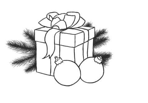 Как нарисовать подарок на новый год? Шаг 11. Портреты карандашом - Fenlin.ru