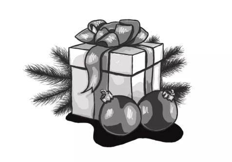 Как нарисовать подарок на новый год? Шаг 18. Портреты карандашом - Fenlin.ru