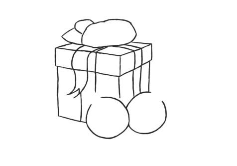Как нарисовать подарок на новый год? Шаг 7. Портреты карандашом - Fenlin.ru
