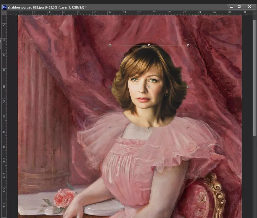 Фотомонтаж в образ с помощью Photoshop (Фотошоп). Шаг 8.2