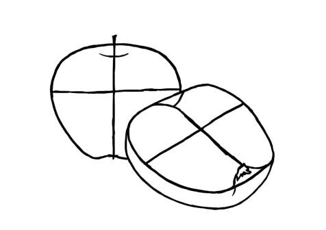 Как нарисовать яблоко? Шаг 5. Портреты карандашом - Fenlin.ru