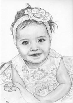 Портрет девочки карандашом (формат A4) - портреты карандашом по фотографии FenLin.ru
