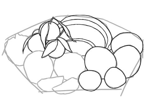 Как нарисовать фрукты? Шаг 5. Портреты карандашом - Fenlin.ru