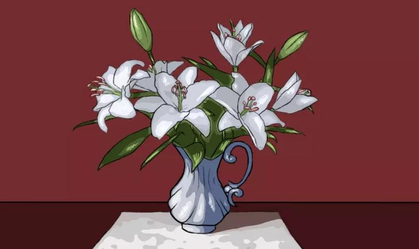 Как нарисовать вазу с цветами? Готовая работа. Портреты карандашом - Fenlin.ru