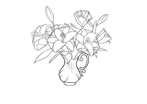 Как нарисовать вазу с цветами? Шаг 10. Портреты карандашом - Fenlin.ru