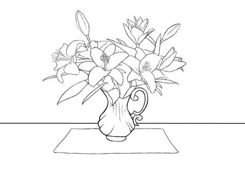 Как нарисовать вазу с цветами? Шаг 12. Портреты карандашом - Fenlin.ru