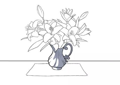 Как нарисовать вазу с цветами? Шаг 13. Портреты карандашом - Fenlin.ru