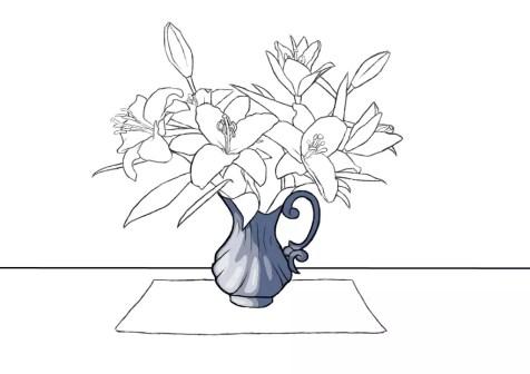 Как нарисовать вазу с цветами? Шаг 16. Портреты карандашом - Fenlin.ru