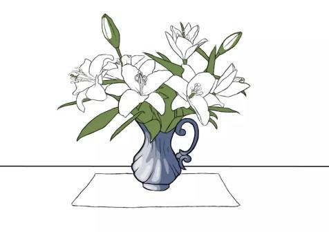 Как нарисовать вазу с цветами? Шаг 17. Портреты карандашом - Fenlin.ru