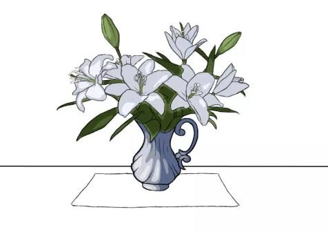 Как нарисовать вазу с цветами? Шаг 21. Портреты карандашом - Fenlin.ru