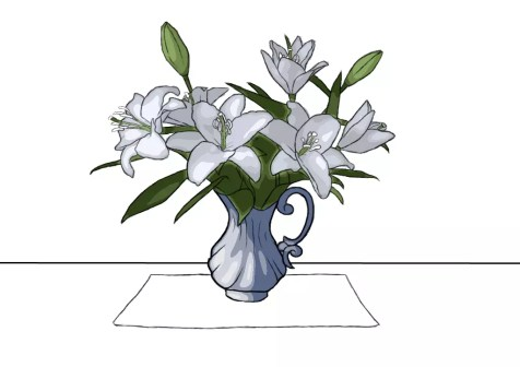 Как нарисовать вазу с цветами? Шаг 22. Портреты карандашом - Fenlin.ru