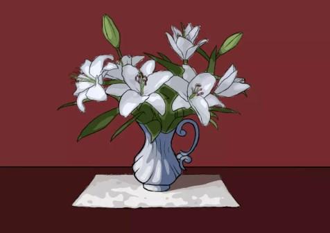 Как нарисовать вазу с цветами? Шаг 26. Портреты карандашом - Fenlin.ru
