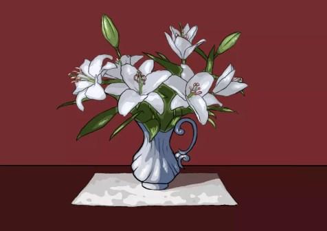 Как нарисовать вазу с цветами? Шаг 28. Портреты карандашом - Fenlin.ru