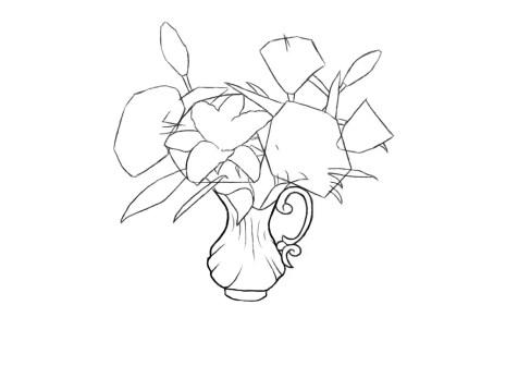 Как нарисовать вазу с цветами? Шаг 8. Портреты карандашом - Fenlin.ru