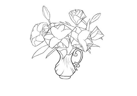 Как нарисовать вазу с цветами? Шаг 9. Портреты карандашом - Fenlin.ru