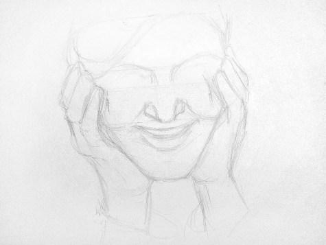 Как нарисовать старушку карандашом? Шаг 4. Портреты карандашом - Fenlin.ru