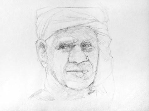Как нарисовать старика карандашом? Шаг 11. Портреты карандашом - Fenlin.ru