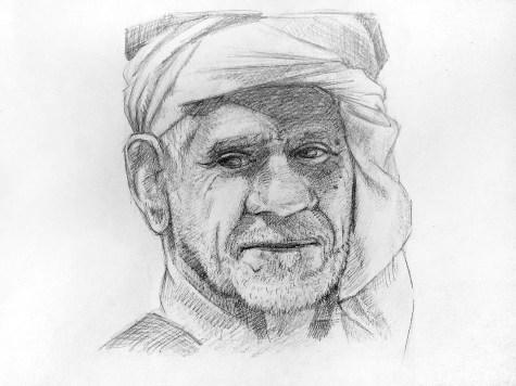 Как нарисовать старика карандашом? Шаг 16 - Готовая работа. Портреты карандашом - Fenlin.ru